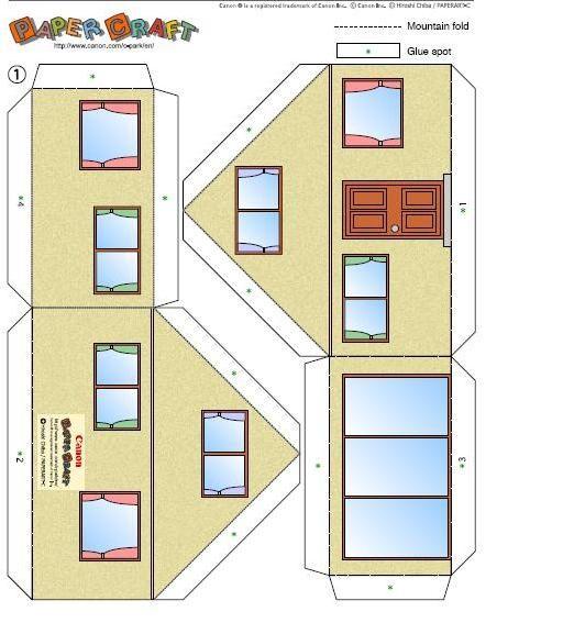 Recortables de papel edificios buscar con google for Hacer tu casa en 3d