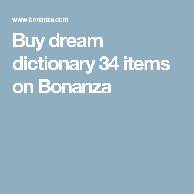 Buy Dream Dictionary 34 Items On Bonanza Dream Symbols Pinterest