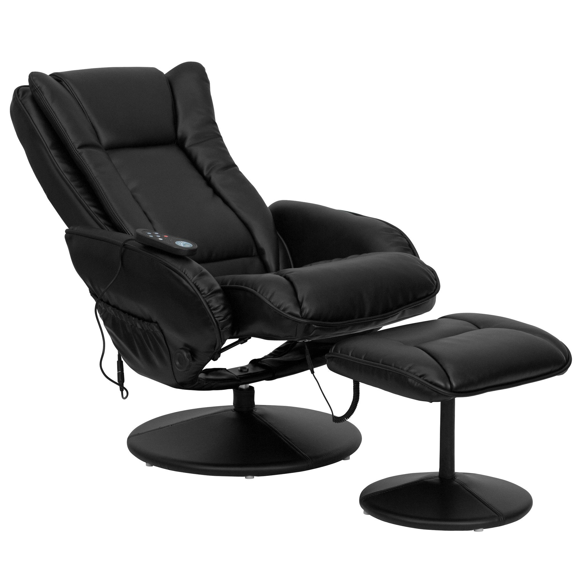 FlashFurniture Leather Heated Reclining Massage Chair and
