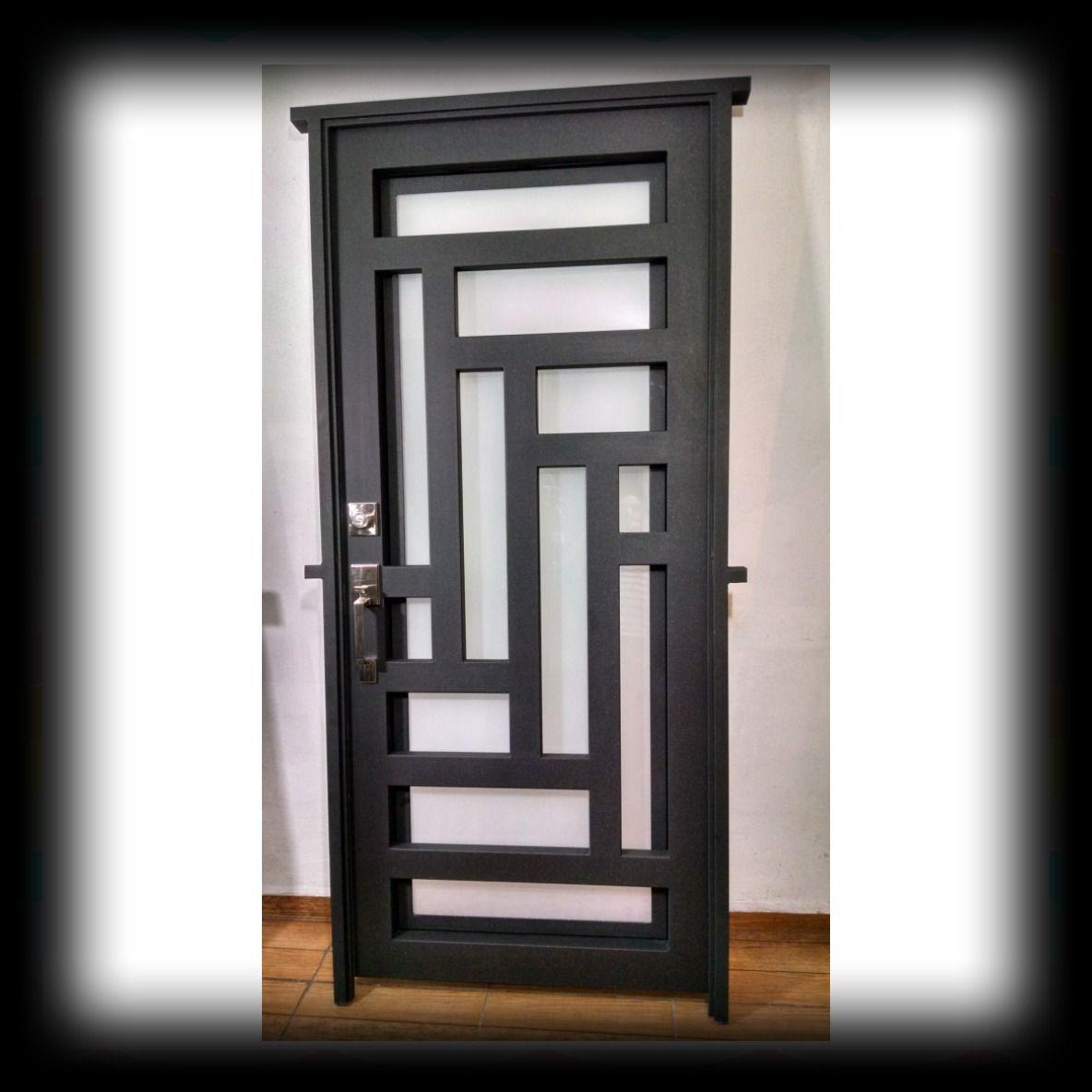 Puerta principal de forja contemporanea 273811 for Puertas metalicas modernas