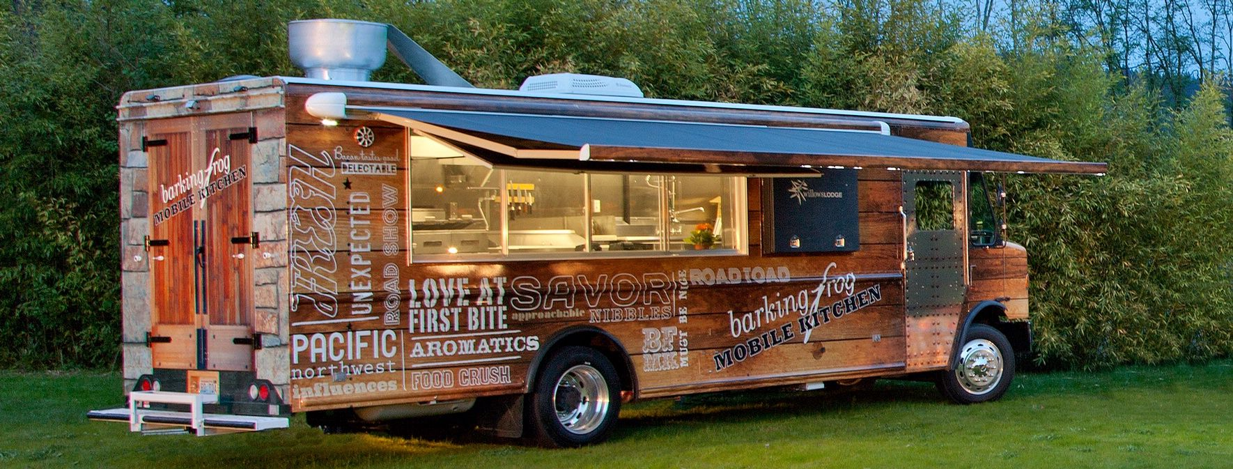 The barking frog mobile kitchen willows lodge