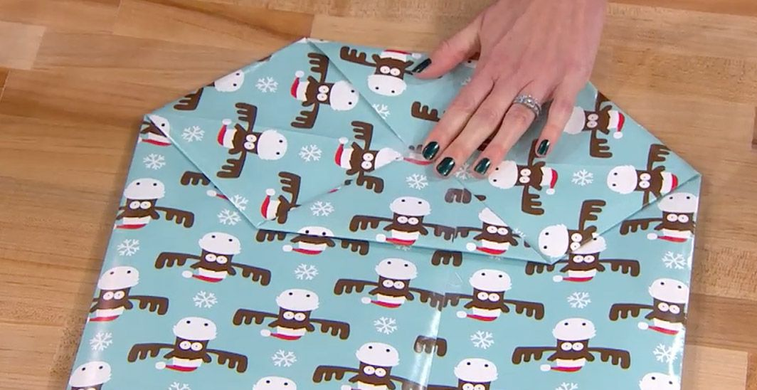 How To Fold Wrapping Paper Into A Gift Bag For Odd Sized