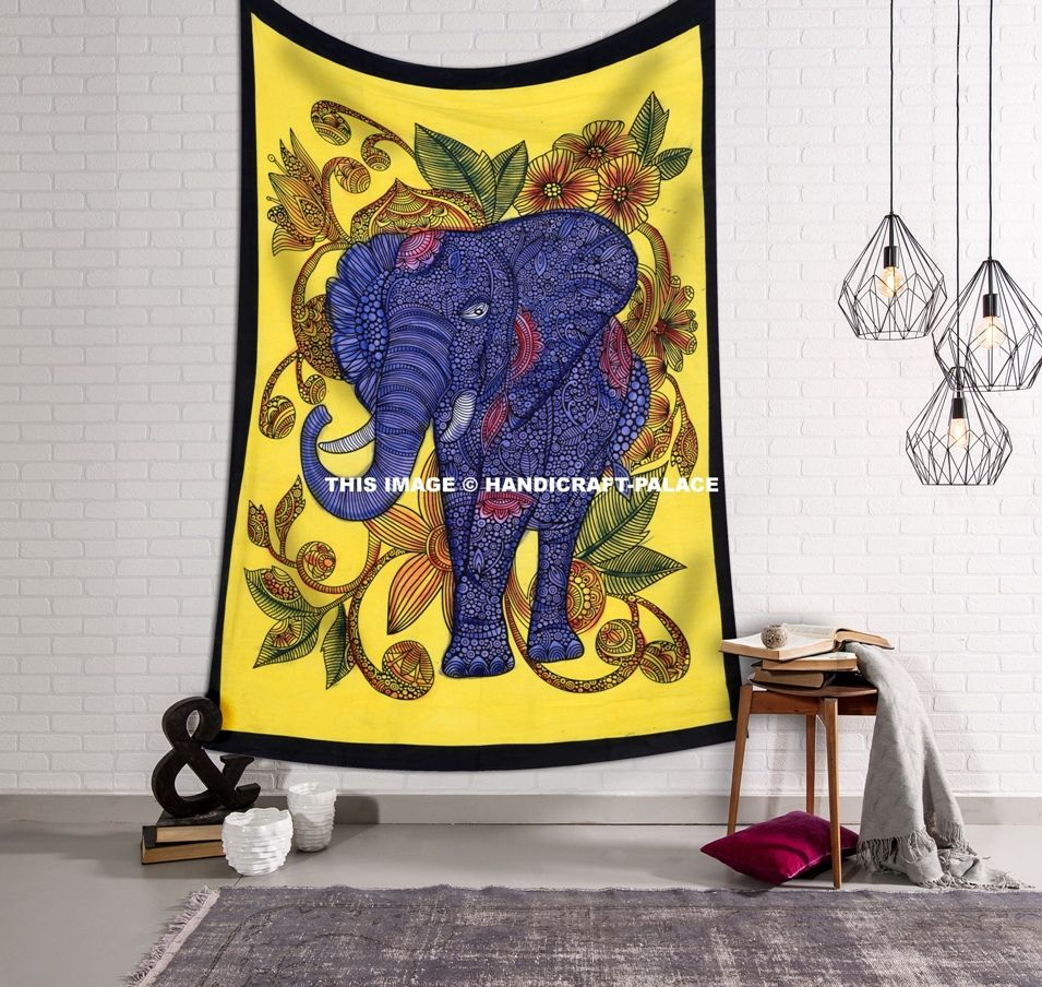 USD 16.99 (Free Shipping) Royal Elephant Wall Hanging Twin size Dorm ...