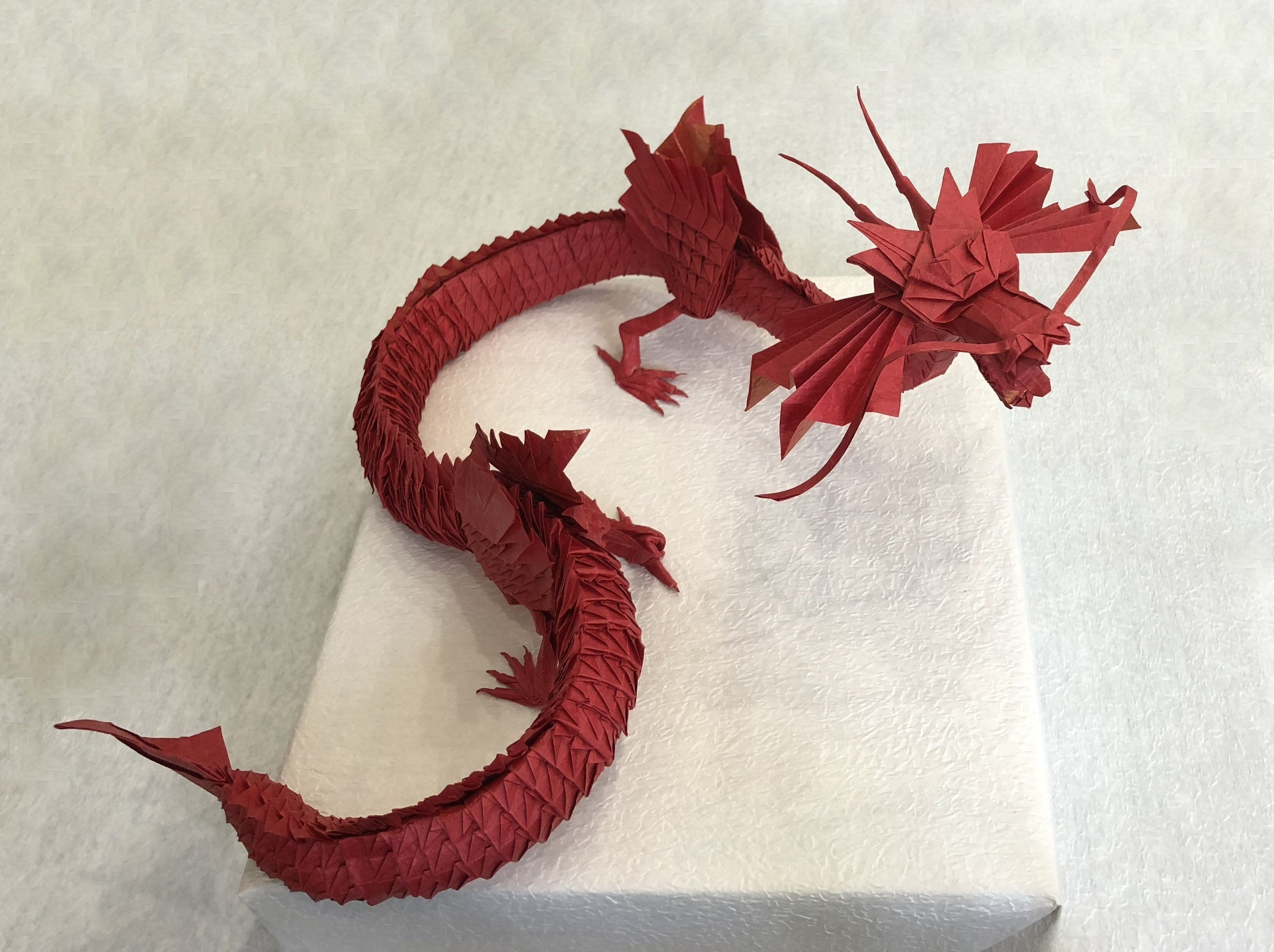 Chinese Dragon 4 5 By Mikiller Origami Dragon Useful Origami Origami Easy