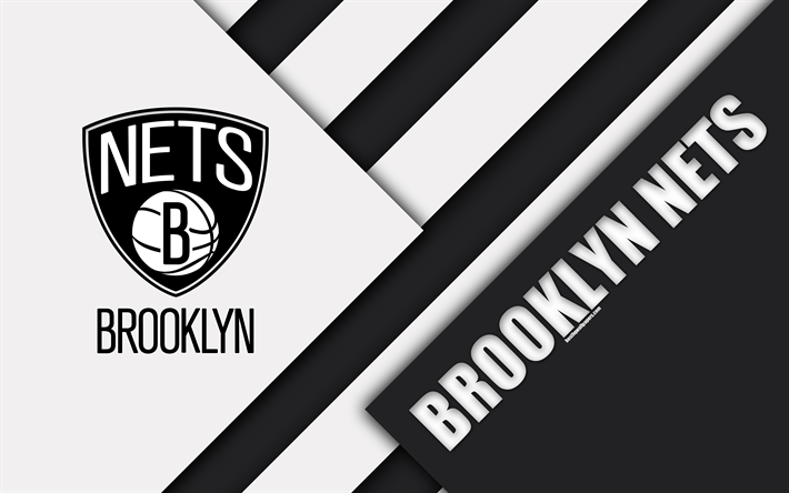 Download Wallpapers Brooklyn Nets 4k Logo Material Design American Basketball Club Black And White Abstraction Nba Brooklyn New York Usa Basketball Be Brooklyn Nets Brooklyn Nets Basketball Material Design