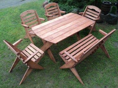 Meble Ogrodowe Drewniane Składane Promocja Nowość Ogród