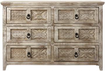 Home Decorators Collection Print Block 6 Drawer Whitewash Dresser 7484600470 The Home Depot Solid Wood Dresser Wood Dresser Bedroom Furniture Redo