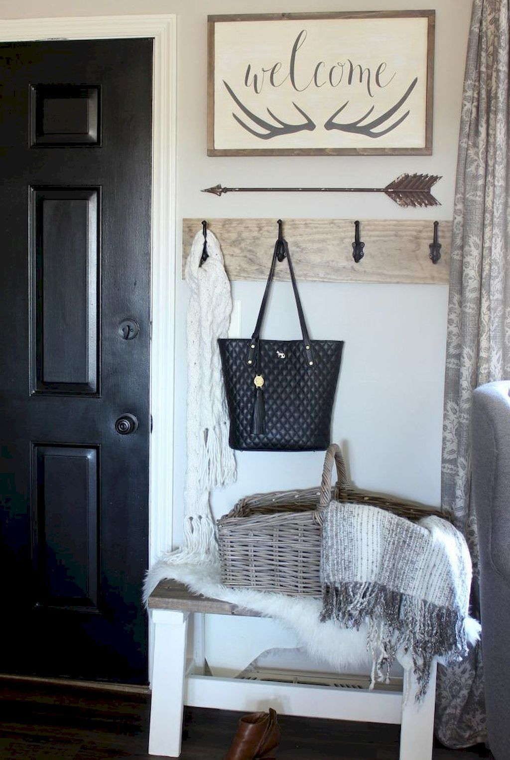 best rustic farmhouse entryway decorating ideas also house decor images in diy for home rh pinterest