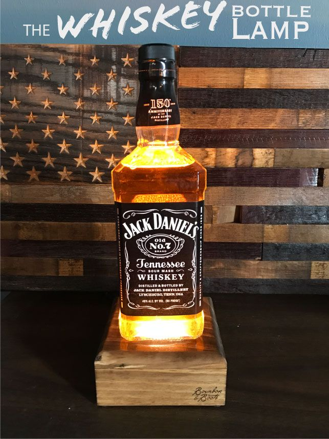 These Rare And Unique Handcrafted Alcohol Bottle Lamps Have Been  Refurbished After Their Original Purpose Of