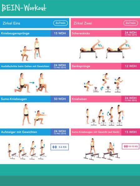 Schlanke Und Straffe Beine Mit Kayla Itsines Beine Workout Bbg Training Und Fitness Studio