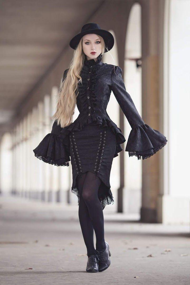 готическая одежда стиль фотки создании композиции очень