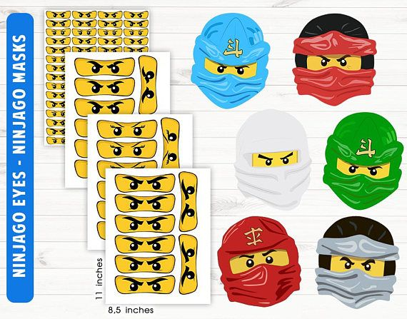 Ninjago eyes Ninjago mask Printable/digital files | Let\'s Party ...