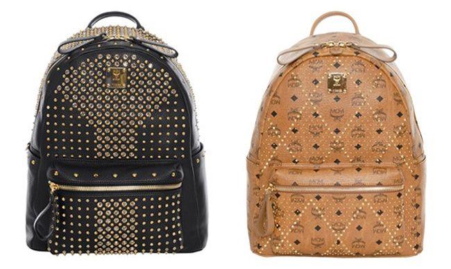 Vintage rucksack leder designer fashion mcm michalsky for Designer stuhle leder