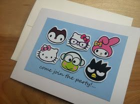 DIY Hello Kitty invitations with free Hello Kitty characters printable