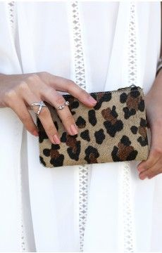 Status Anxiety Maud Clutch Leopard