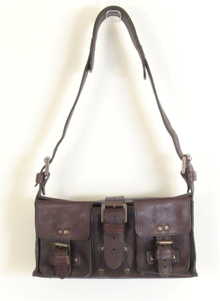 5c4e3aec1e94 MULBERRY CHOCOLATE BROWN DARWIN LEATHER BLENHEIM  BABY ROXANNE  SHOULDER BAG   MULBERRY  ShoulderBag