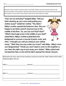 character traits worksheet – streamclean.info