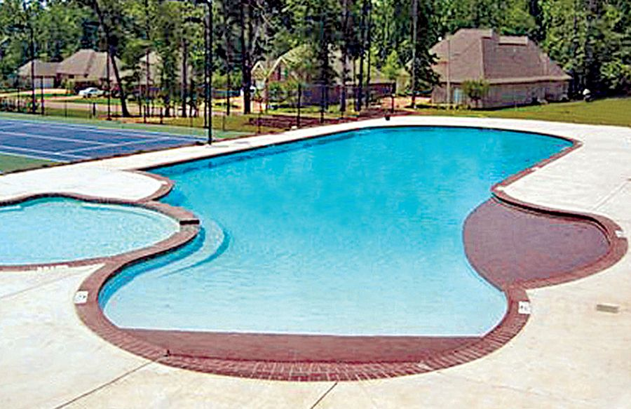 Zero depth beach entry pool from blue haven pools awesome inground pool designs pinterest - Beach entry swimming pool designs ...