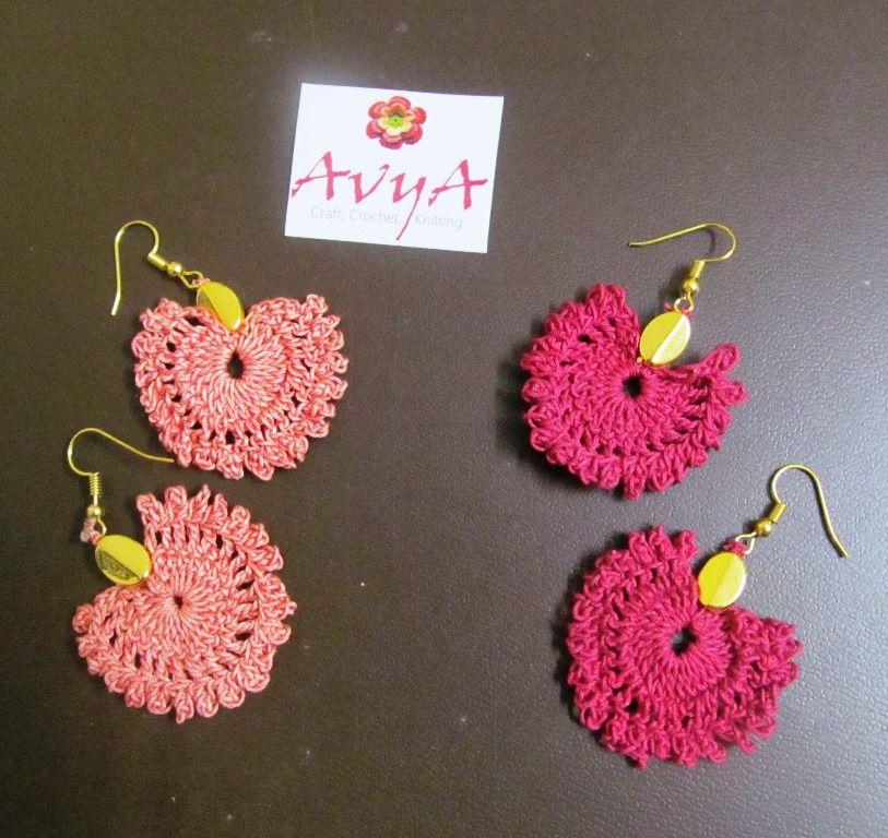The Lace Earring -Free Pattern - | Avya Crochet Accessories | Pinterest