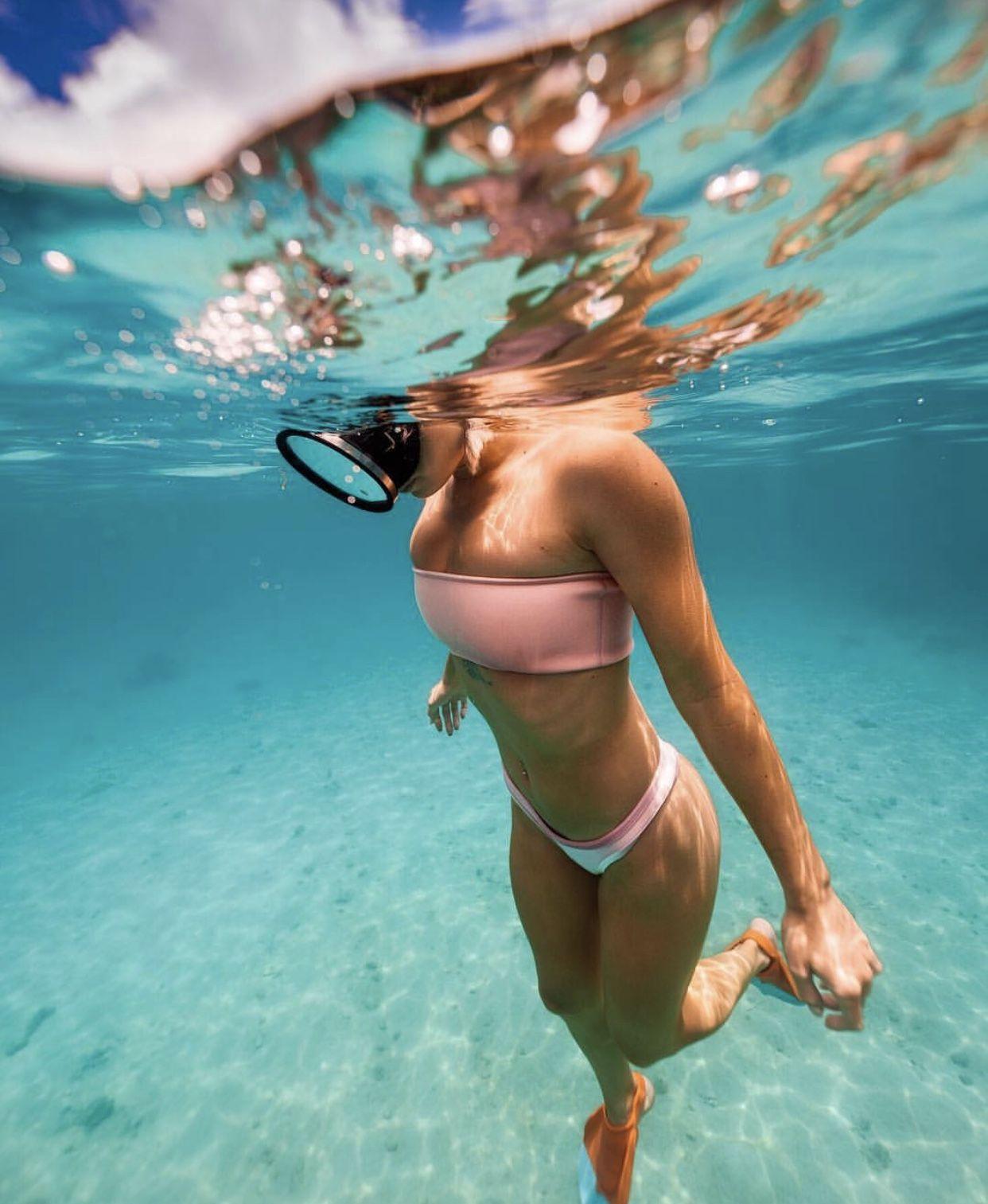 Beautiful woman bikini image photo