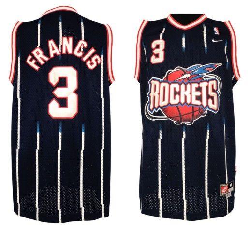 Adidas NBA Houston Rockets 3 Steve Francis Soul Throwback Swingman Blue  Jersey a3e578e8d