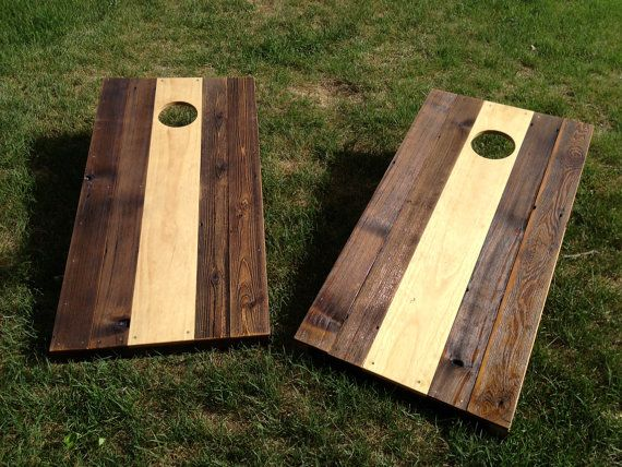 Wooden Corn Hole Game Cornhole Game by ColoradoJoes New and Reclaimed by ColoradoJoes 32