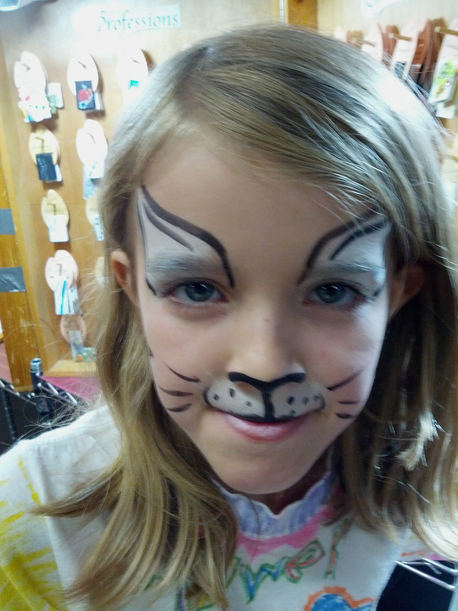 face painting cat - HD900×1200