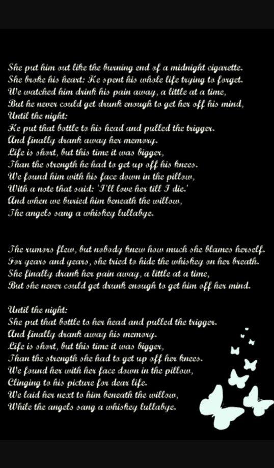 Whisky Lullaby Lyrics Brad Paisley
