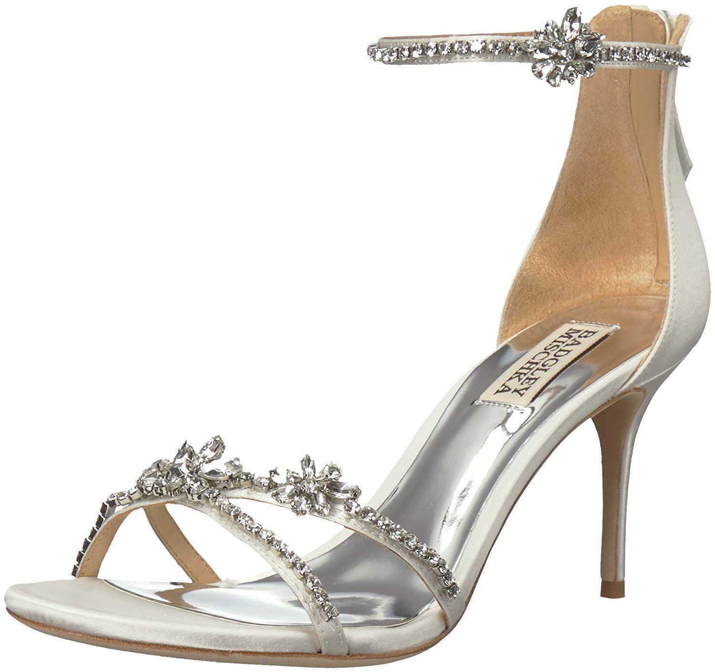 Badgley mischka womens hobbs heeled sandal thanks a lot
