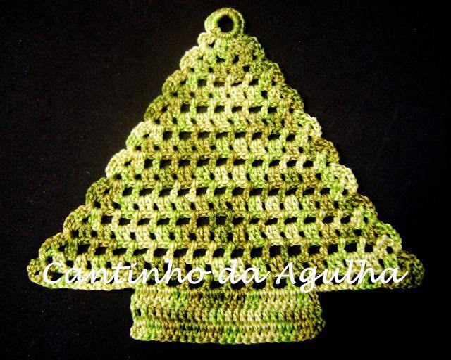Tree Ornaments In Crochet Croche Com Receitas Arvore De Natal