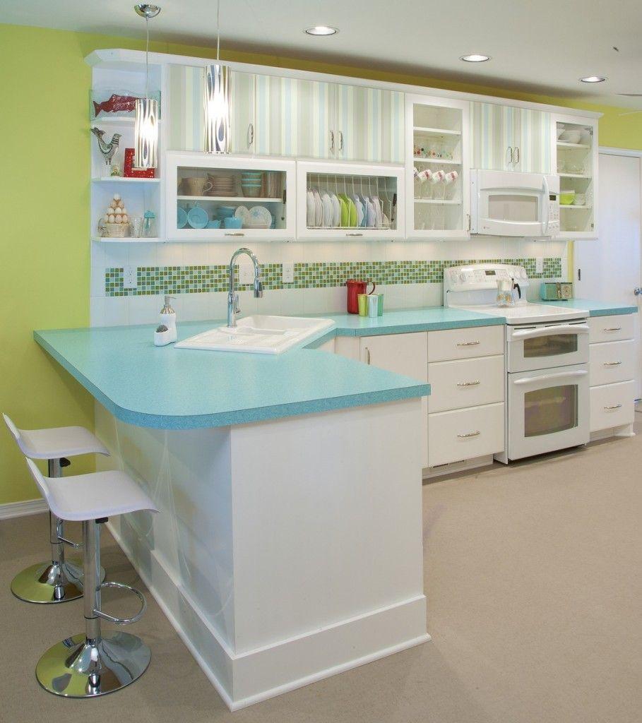 Sleek Modern Kitchen Twin Bar Stools Digitally Printed Patterns ...