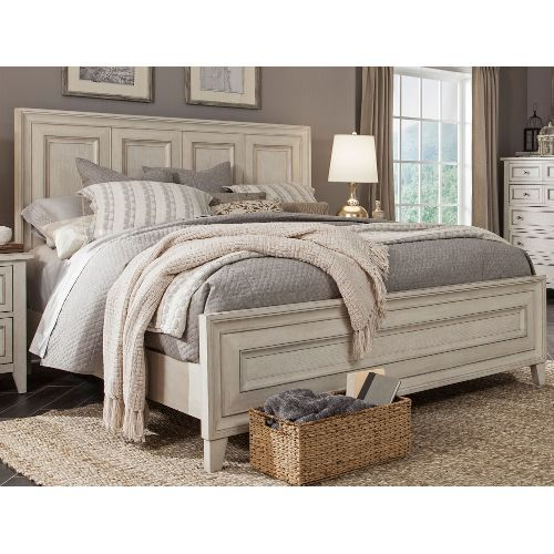 White Casual Traditional King Size Bed Raelynn 899 Bedroom In
