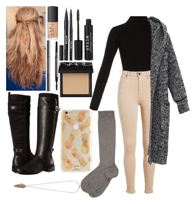 """""""We are playing in the snow again!!!"""" by me-is-a-pizza ❤ liked on Polyvore featuring Haider Ackermann, Aerosoles, Stila, Burberry, NARS Cosmetics, Forever 21, women's clothing, women's fashion, women and female"""