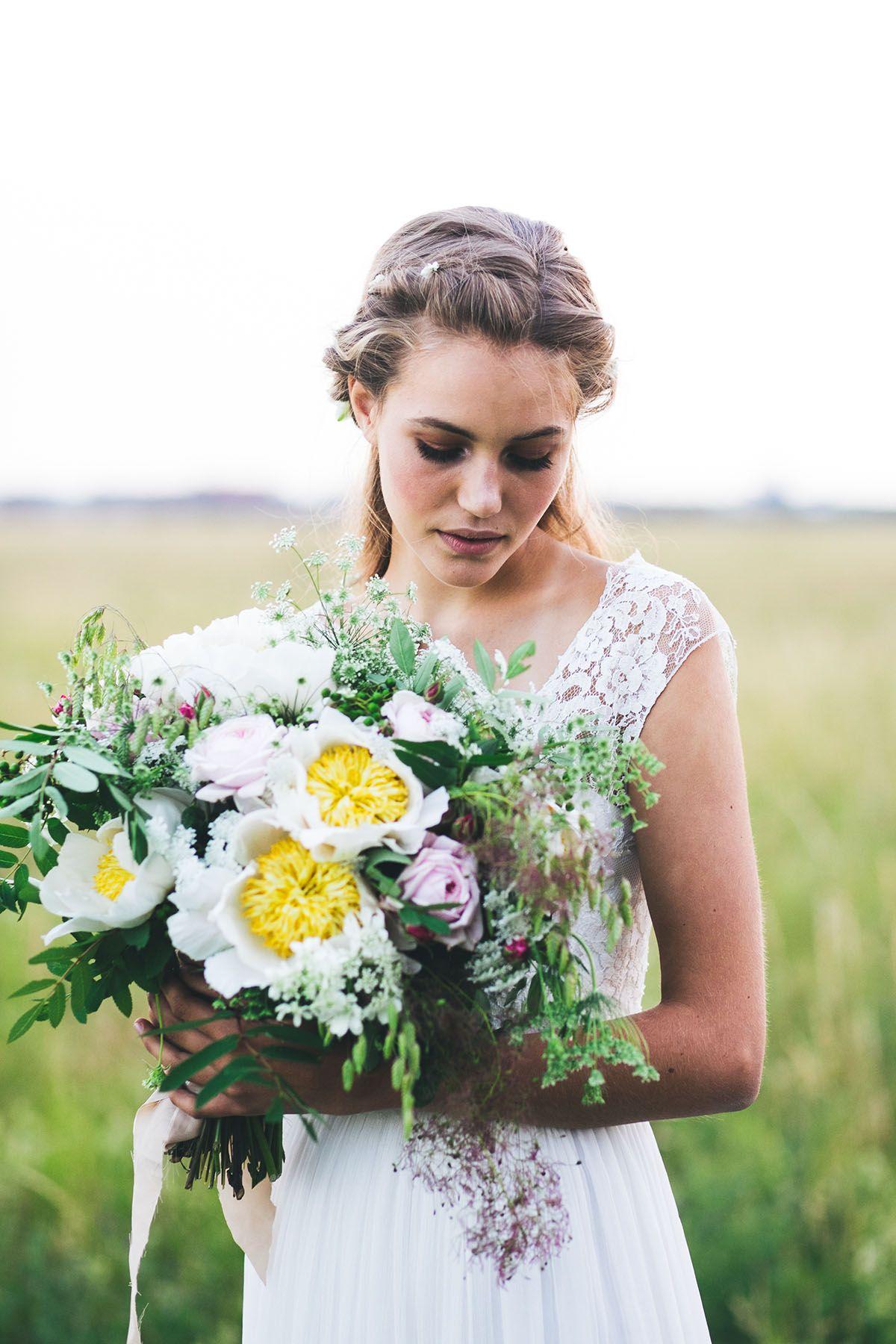 bouquet de mariée champêtre | ✿ Wedding-Mariage {Fleurs, bouquet ...
