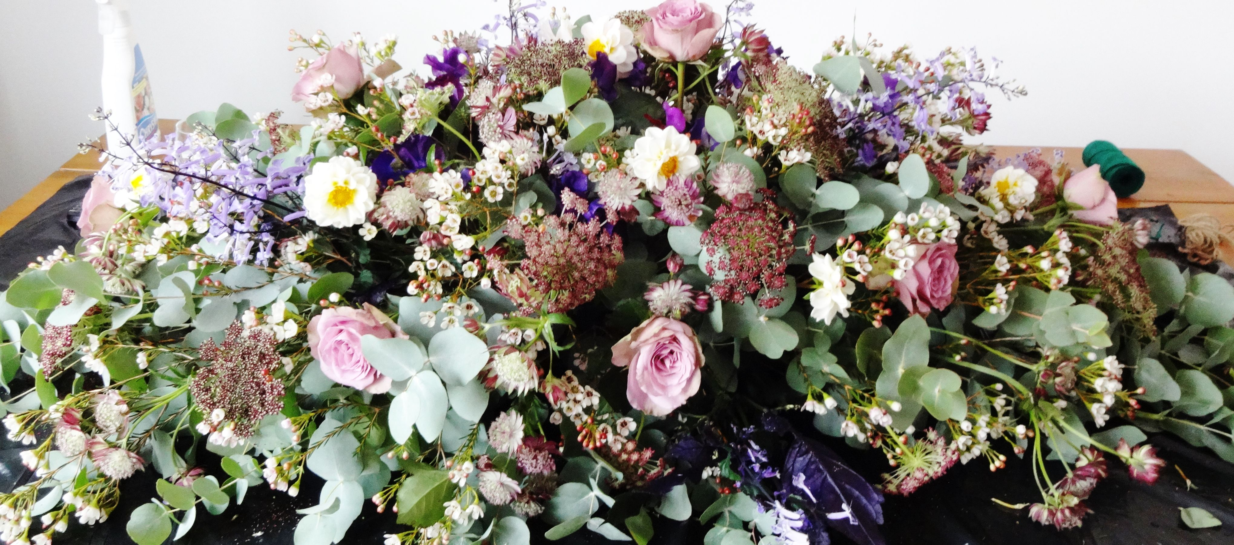 English Garden Coffin Spray Holly Cadogan Flowers Casket Flowers Funeral Flowers Remembrance Flowers