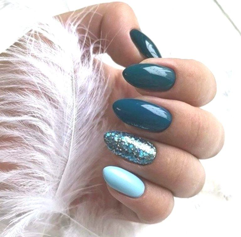 Nail Art Blue Nail Trend Autumn Winter 2020 2020 Christmas Party