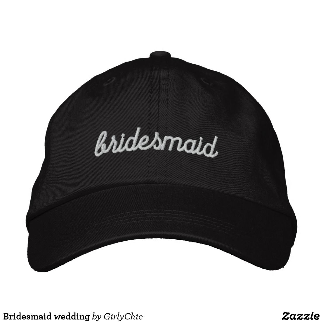 267fd2c0fcb Bridesmaid wedding embroidered baseball cap. Bridesmaid wedding embroidered  baseball cap Baseball Hats