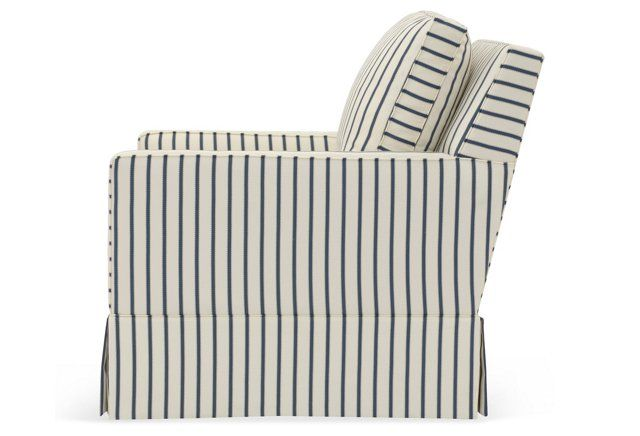 Best Auburn Swivel Chair Cream Blue Stripe Swivel Club 400 x 300