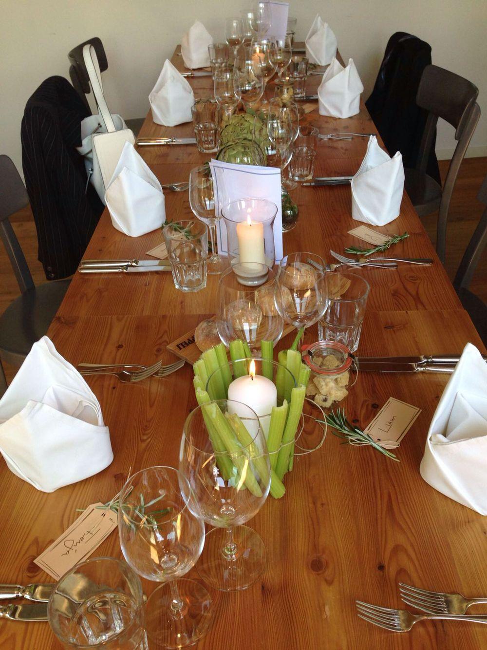 Tischdekoration Ohne Blumen Dekor Pinterest