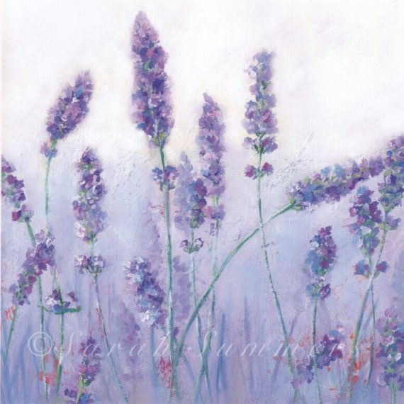 Lavender Art Print by Sarah Summers via Etsy
