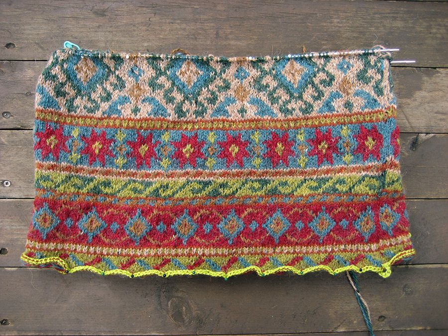 Sampler fair isle infinity scarf - with great explanation of how ...