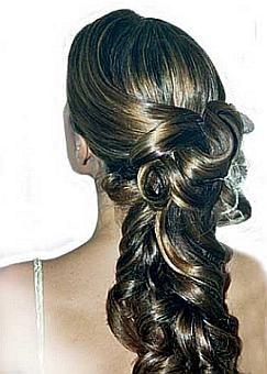 peinado recogido coleta entrelazada - Peinados De Fiesta Semirecogidos