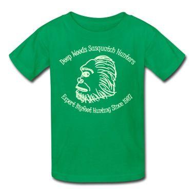 Glow in the Dark Sasquatch Hunters T-Shirt | Spreadshirt | ID: 10093325