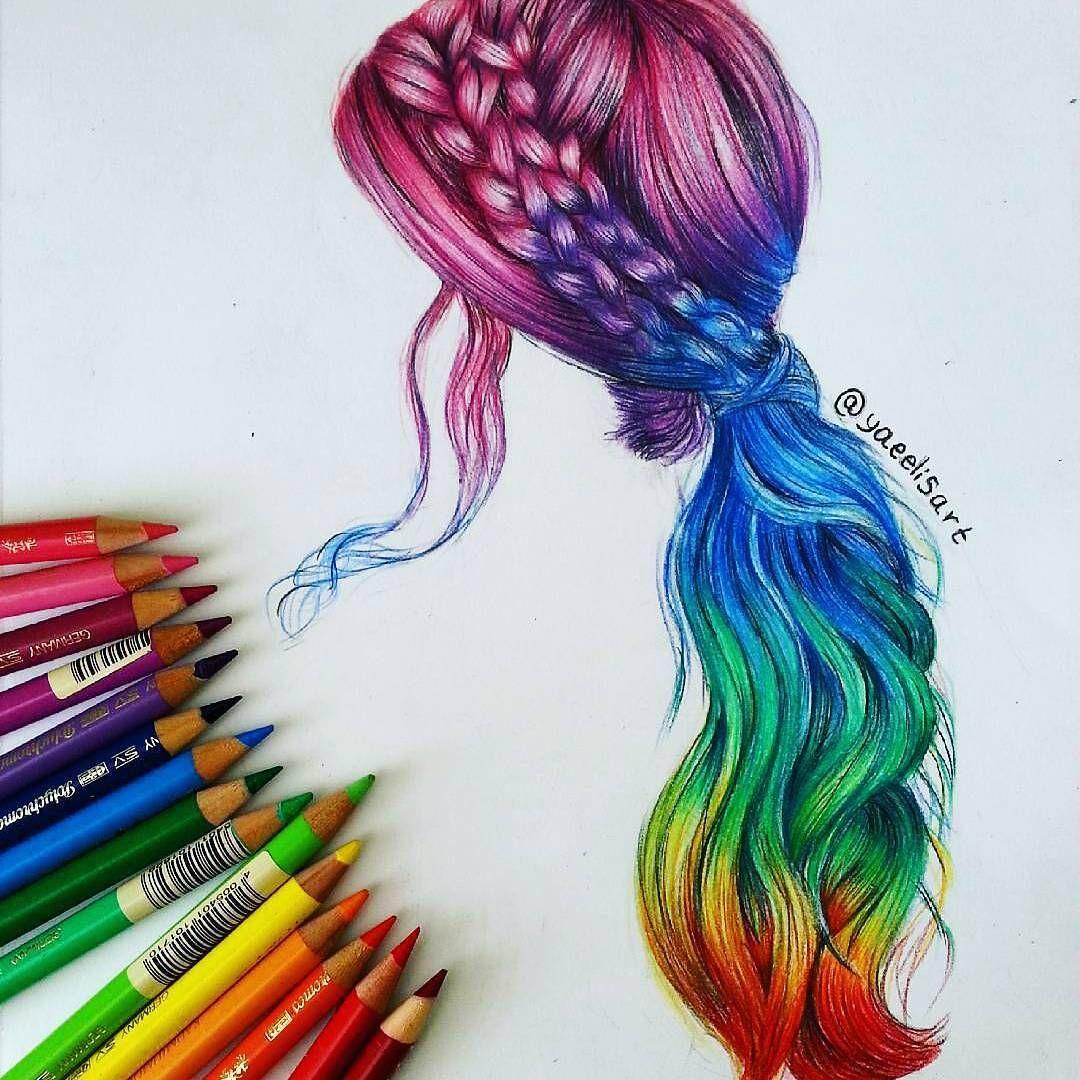 Art color hair - Color Pencil Art