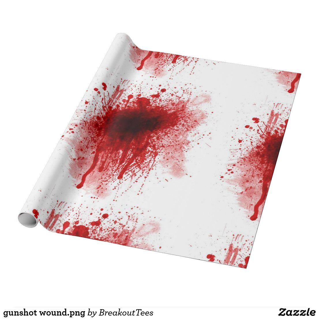 Gunshot Wound Png Wrapping Paper Zazzle Com Custom Wrapping Paper Wrapping Paper Paper
