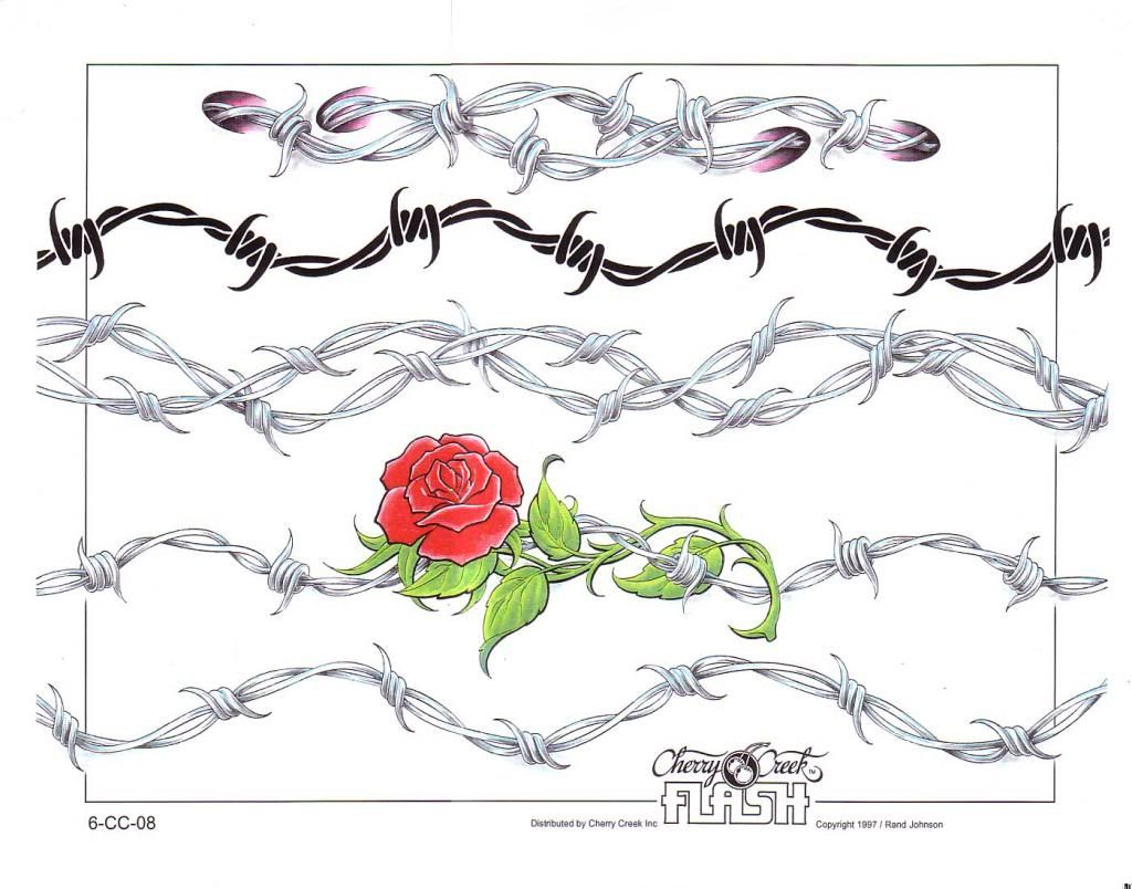 Barbed Wire Rose Tattoo: Anklet Bracelet Tattoo Barbwire Rose
