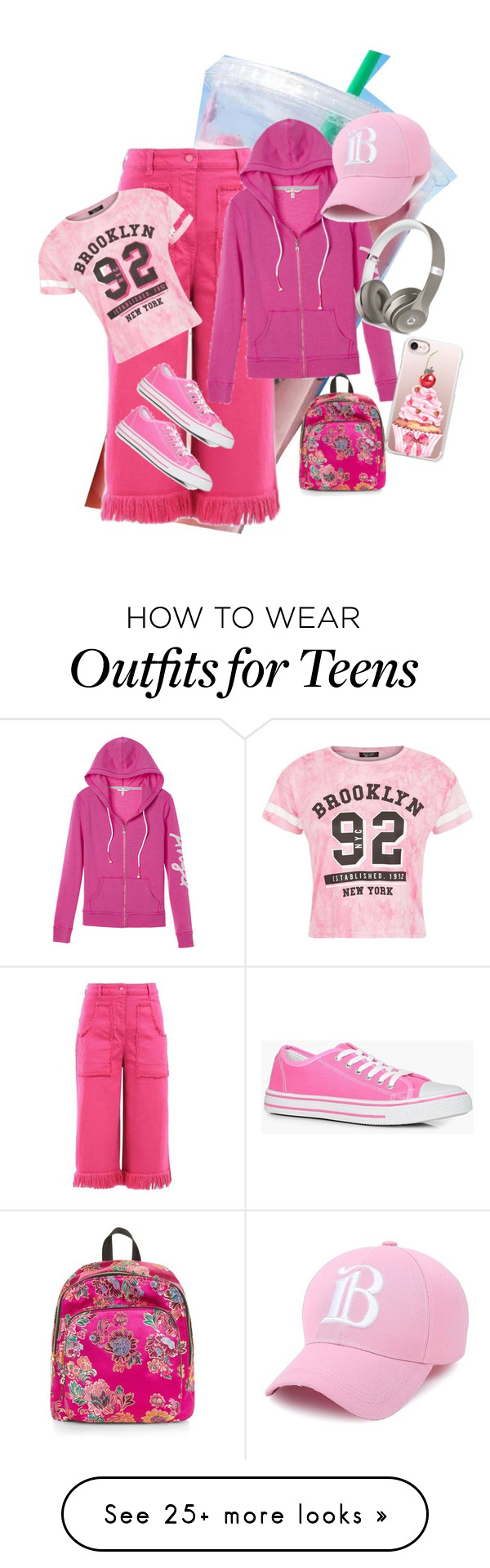 """""""Untitled #479"""" by chocolateladi on Polyvore featuring Boohoo, Victoria's Secret, New Look, Casetify and Beats by Dr. Dre"""