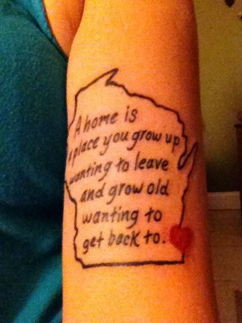 Wisconsin Tattoo Wisconsin Tattoos Tattoos Tattoo Quotes