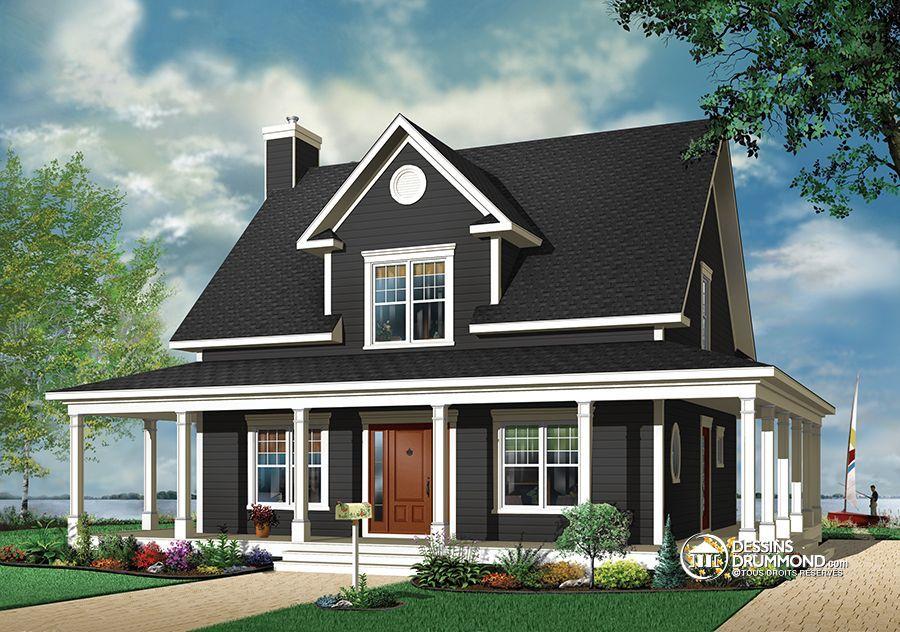 Détail du plan de Maison unifamiliale W3504 idée futur Nid du0027amour - idee de plan de maison