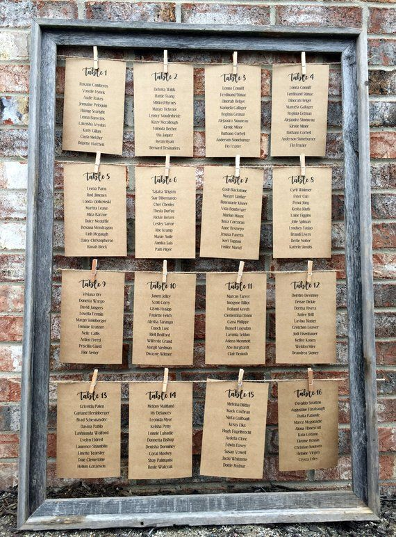 Rustic Wedding Decor, Wedding Table Card Holder, Barnwood Frame, Seating Chart Frame, Table Number Holder, Rustic Table Cards, 24″ x 36″